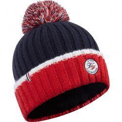 L Alpin bonnet avec pompon Le Vent à la Française, bleu et rouge