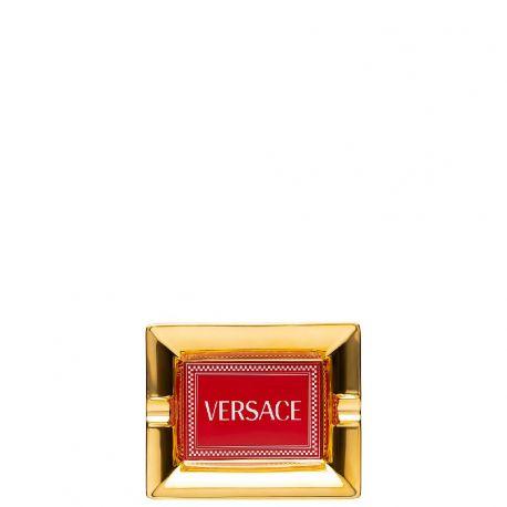 Medusa Rhapsody Versace Cendrier 13 ou 16cm Rouge Porcelaine