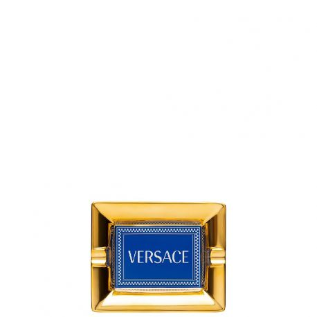 Medusa Rhapsody Versace Cendrier 13 ou 16cm Bleu Porcelaine