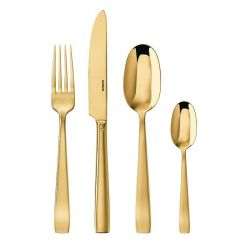 Flat Mirror Gold Couverts Or Sambonet Ménagère 24 pièces
