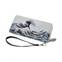 ARTIS ORBIS La Vague Portefeuille Hokusaï simili cuir décoré