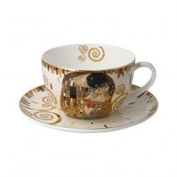 Klimt Le Baiser,Bol à déjeuner porcelaine décoré par Artis Orbis