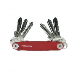 Wunderkey Rouge, le couteau suisse des porte-clés, acier laqué