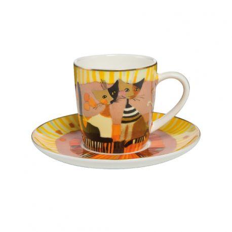 "Tasse Espresso et sous-tasse ""Momenti D'Oro"" de Rosina"