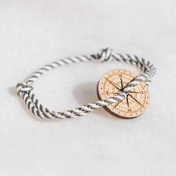 Le Bosquet bracelet blanc & kaki Le Vent à la Française Bois