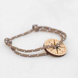La Résine bracelet marron Le Vent à la Française Bois naturel
