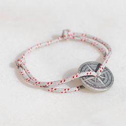 La bise bracelet gris & rouge Le Vent à la Française