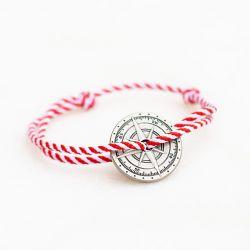 L Olympe bracelet blanc & rouge Le Vent à la Française