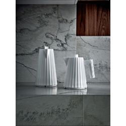 ALESSI - Plissé Bouilloire électrique Blanc Design Michele De Lucchi