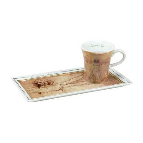 L Homme de Vitruve de De Vinci Café Espresso gourmand 10cl