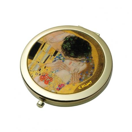 "Miroir de poche ""Le Baiser"" de Klimt"