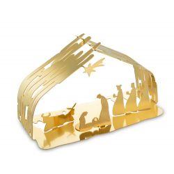 Bark Crib Alessi, Crèche Silhouette en acier doré