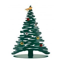 Bark for Christmas Alessi, Sapin en acier laqué vert 45 cm