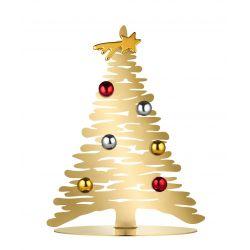 Bark for Christmas Alessi, Sapin en acier laqué or, hauteur 30cm