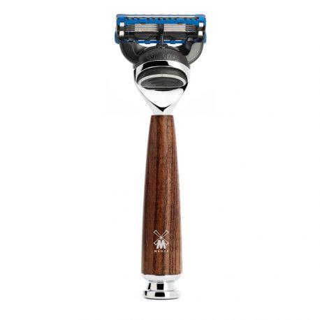 Rytmo Mühle Rasoir 5 lames Gillette® Fusion™, manche frêne étuvé