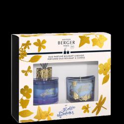 Coffret bouquet Parfumé + Bougie Parme «Lolita Lempicka»