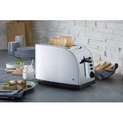 Stelio WMF Grille pain compact 2 tranches Inox 18/10