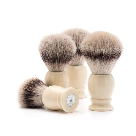 MÜLHE - Classic Blaireau résine ivoire & poils Silvertip Fibre®