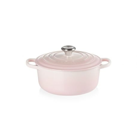 Signature Cocotte Ronde Fonte Shell Pink