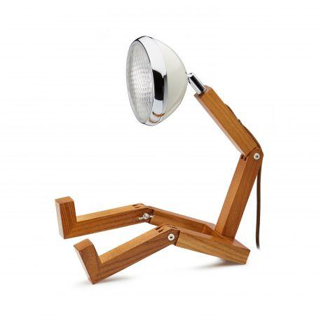 Mr Wattson, Lampe de bureau articulable, blanc vintage