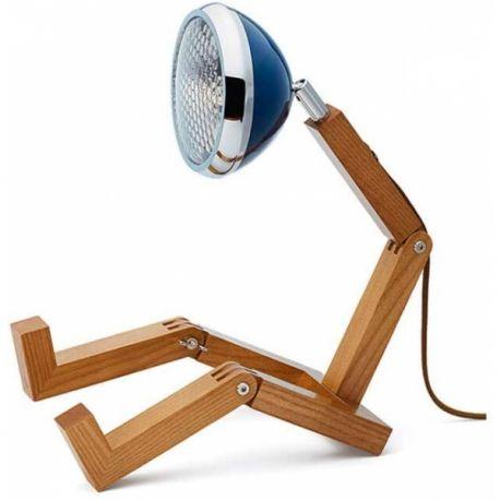 Mr Wattson, Lampe de bureau articulable, coloris bleu