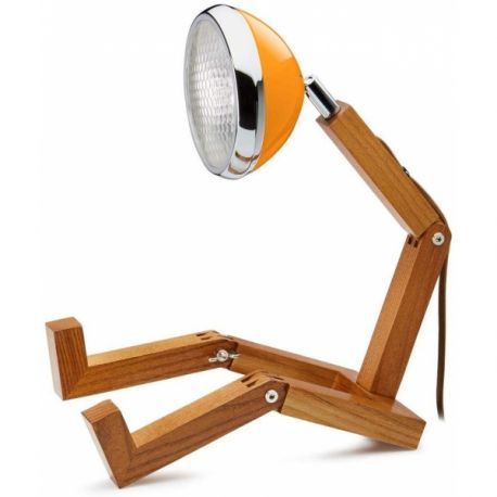 Mr Wattson, Lampe de bureau articulable orange