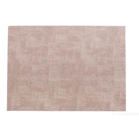 Meli Melo, Set de table coloris chair , 33x46 cm