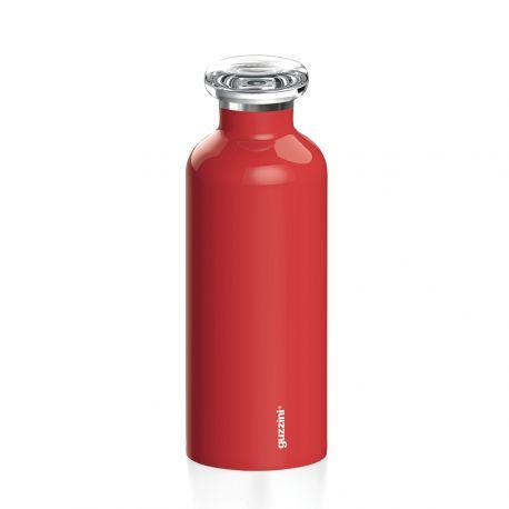 On The Go, Bouteille isotherme en inox, coloris rouge, 50 ou 75 cl