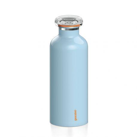 On The Go, Bouteille isotherme en inox, coloris bleu, 33 ou 50 cl