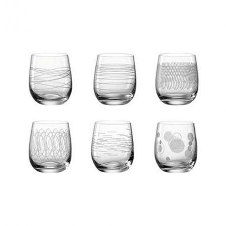 Casella – Coffret de 6 verres à Whisky en Teqton, 360 ml