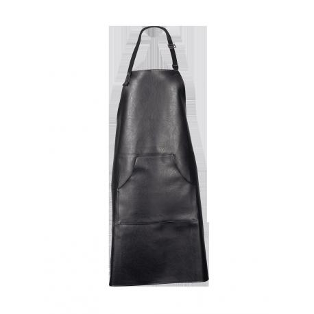 Végan Leather, Tablier en simili cuir, coloris noir