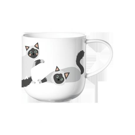 Coppa, Mug chats joueurs, en porcelaine fine bone china, 40 cL
