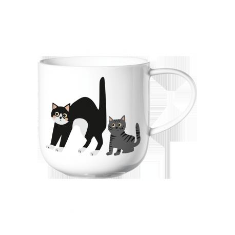 Coppa, Mug chats surpris ,en porcelaine fine bone china, 40 cL