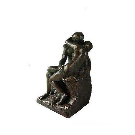 Le Baiser de Rodin - Statue 17 cm bronze en résine