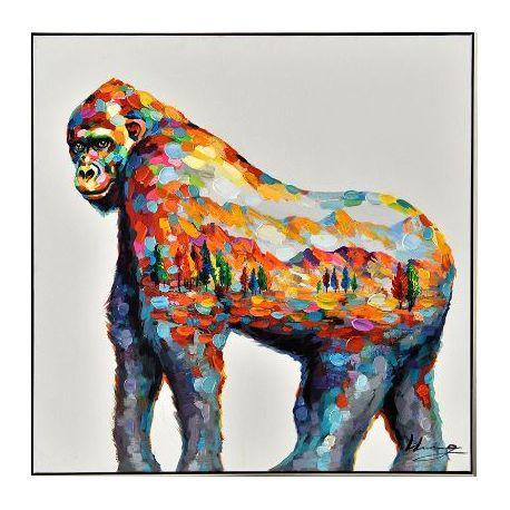 Tableau Gorille coloré, 100 x 100 cm