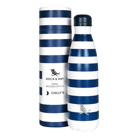 Bouteille isotherme Dock & Bay Bleu Navy 500ml