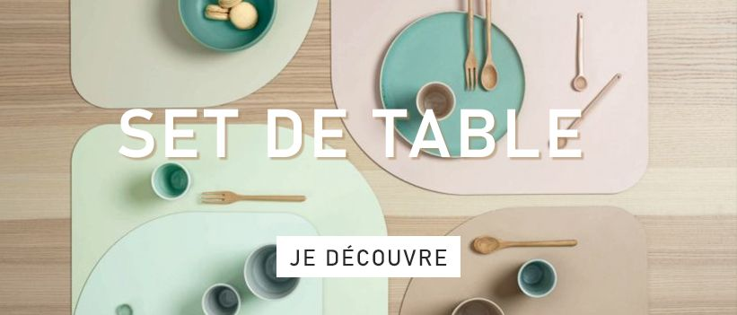 set de table cuir vegan